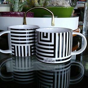 kate spade Saturday Coffee Mugs (2)